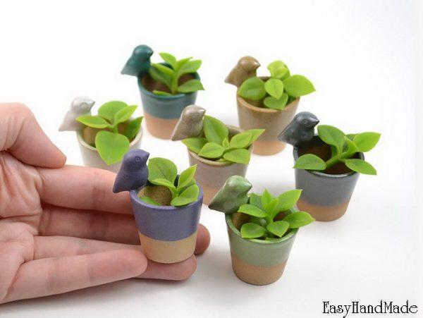 Как сделать цветочные горшки из полимерной глины