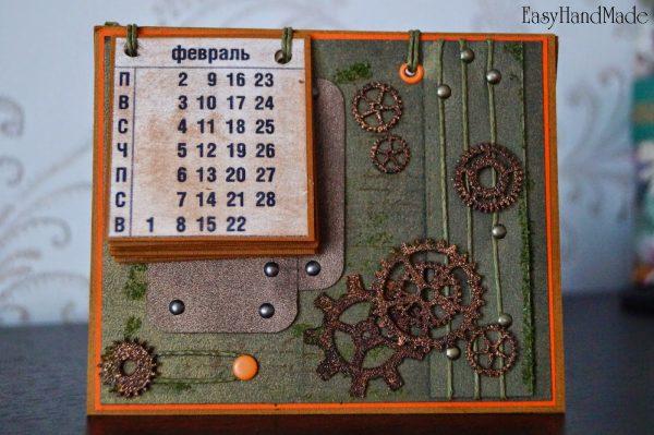 Календарь в технике скрапбукинг