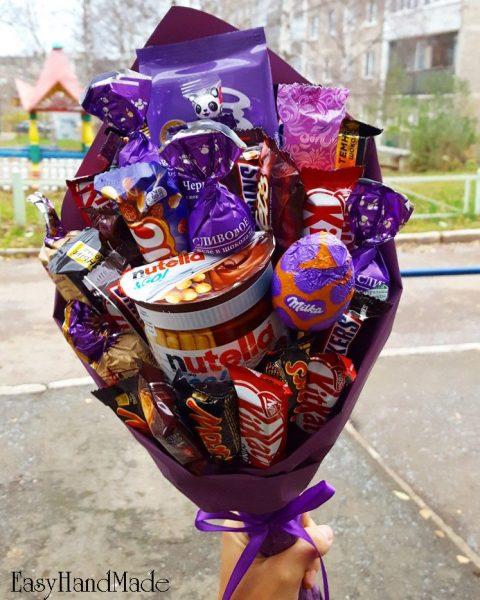 Букет из шоколадных сладостей