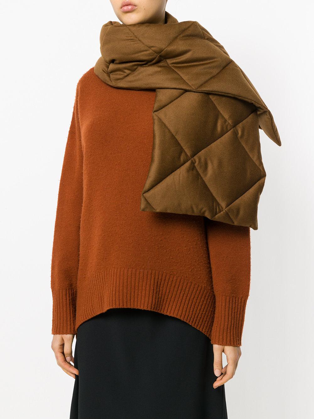 Стеганый шарф своими руками: 2 мастер-класса