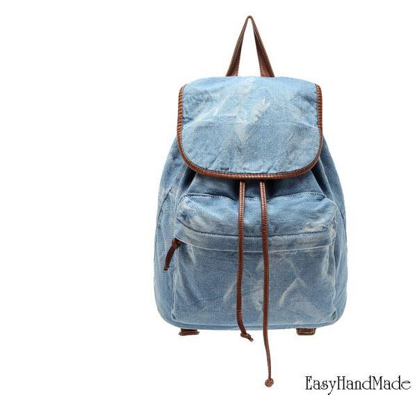 Джинсовый рюкзак фото