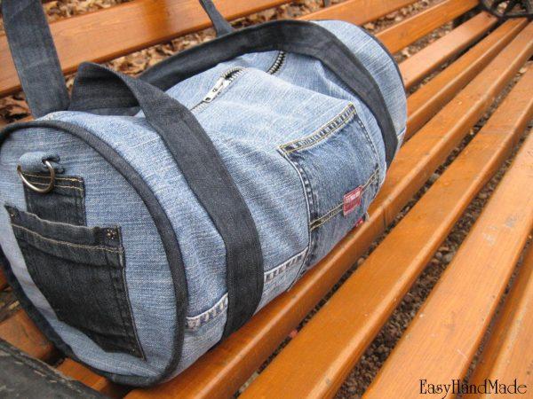 Дорожня сумка із джинсів