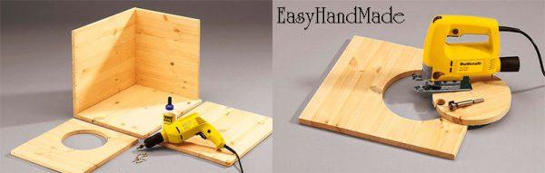Изготовление деревянного домика для кошки