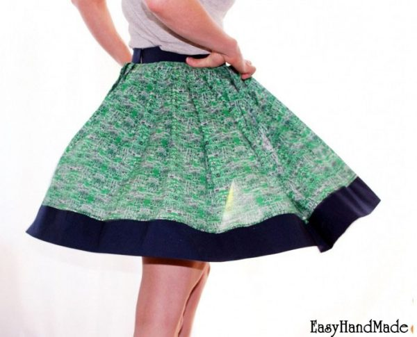 Как сшить юбку на резинке фото