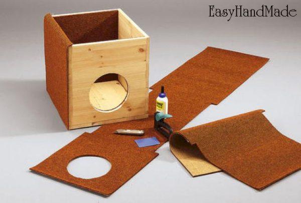 Создание домика для кошки из фанеры