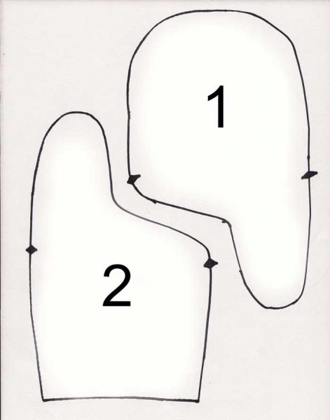Викрійка рукавиць