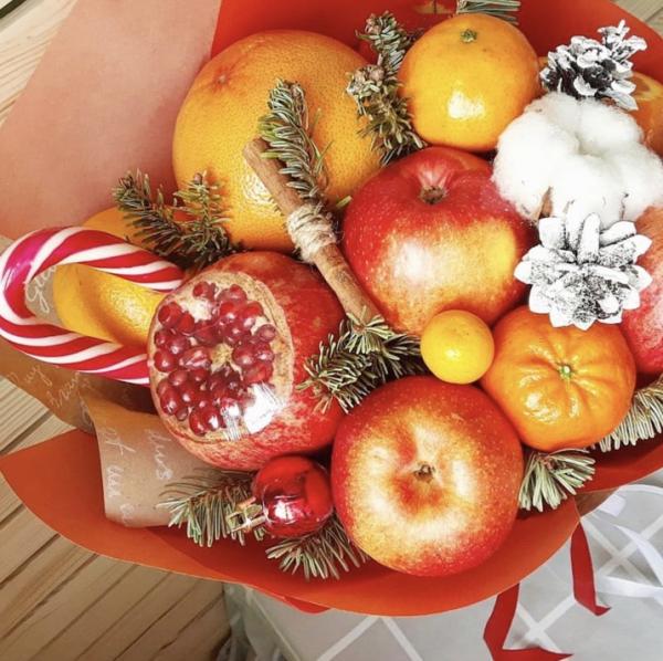 Букет из фруктов и овощей своими руками