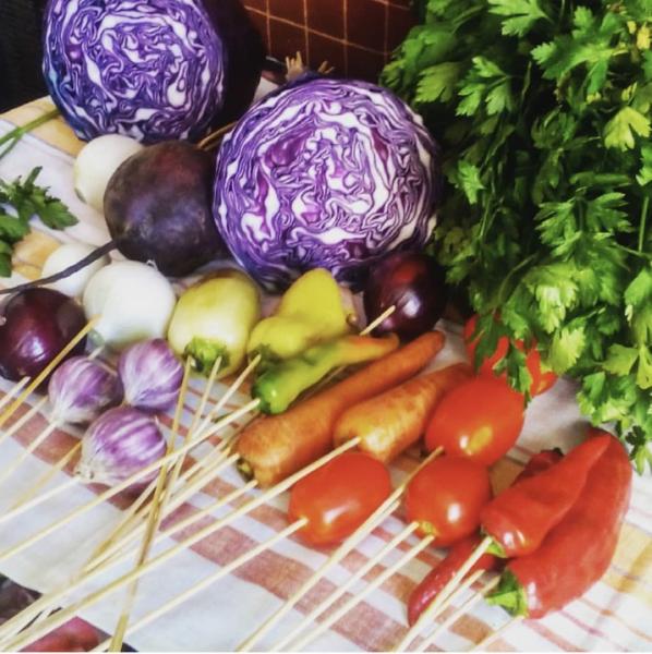 Сборка овощного букета