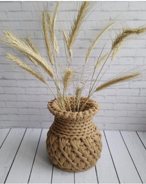 Как сделать вазу своими руками из нитей