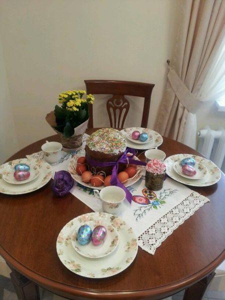 Как украсить стол к Пасхе