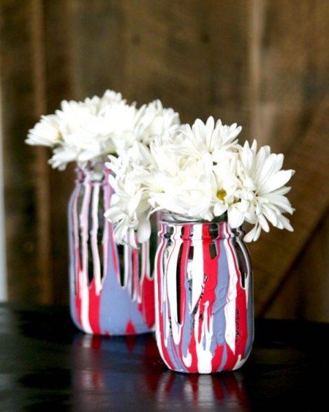 Как сделать вазу своими руками в разных оттенках