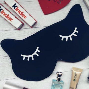 Стильная маска для сна своими руками