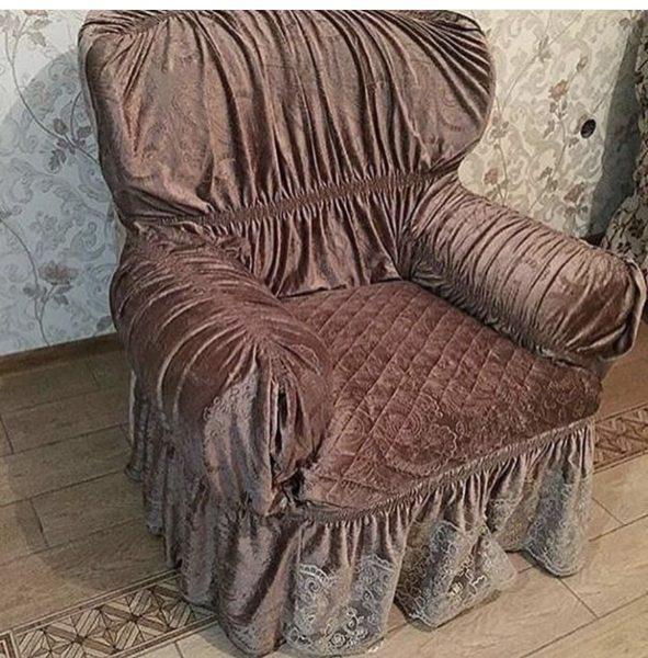 Как сшить чехол на старое кресло