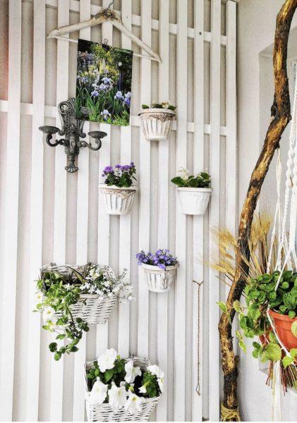 Стены из цветов