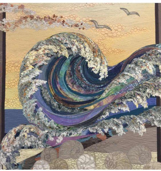 Картины из джинсовой ткани фото