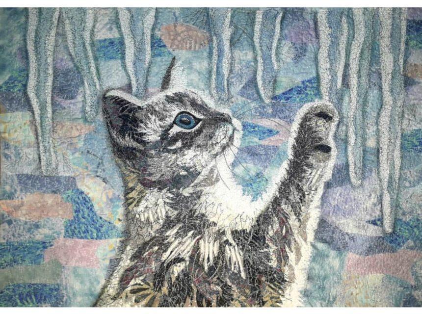 Удивительные картины из ткани своими руками
