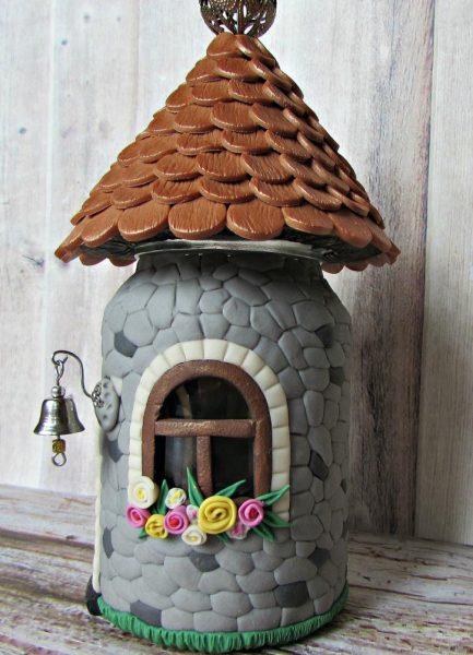 Чайный домик из полимерной глины