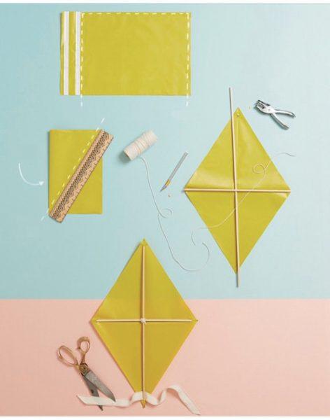 Изготовление воздушного змея из бумаги