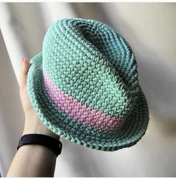 Плетеная шляпа своими руками