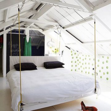 Подвесная кровать своими руками: идеи