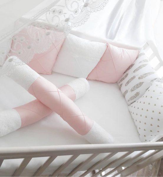 Подушки бортики в кроватку своими руками
