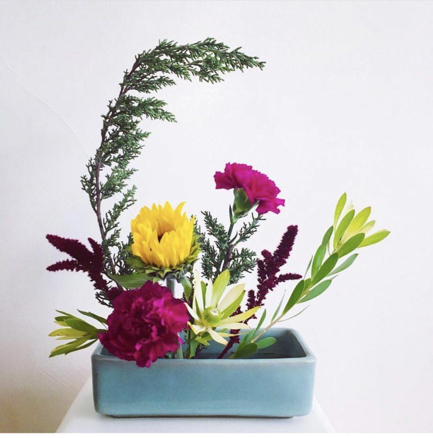 Квіткова ікебана своїми руками: ази створення