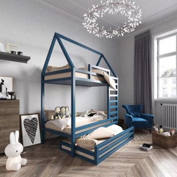 Необычная двухъярусная кровать своими руками