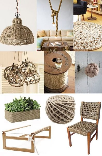 Плетеная мебель из веревки