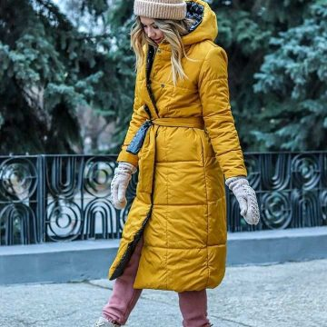 Стильна зимова куртка своїми руками