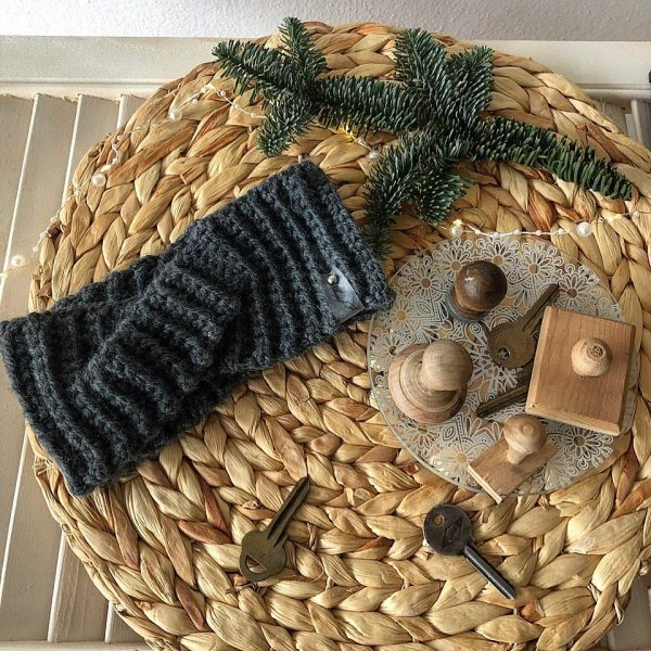 Теплая зимняя повязка