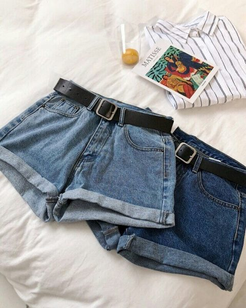 Джинсовые шорты из старых джинсов
