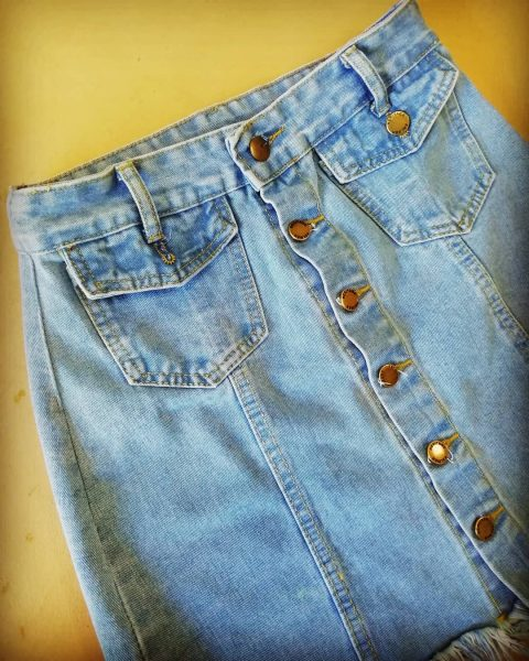 Спідниця з джинсів