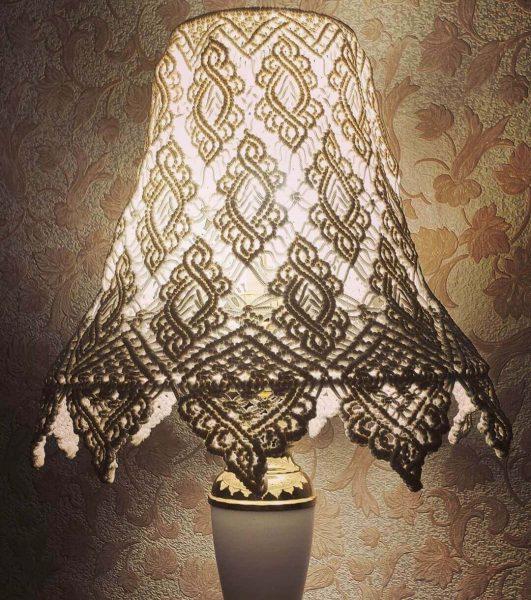Абажур для торшера с помощью вязания