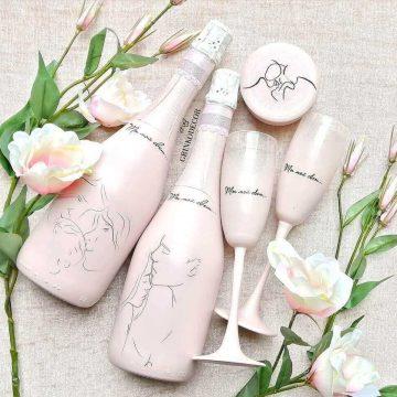 Идеи, как украсить свадебные бокалы