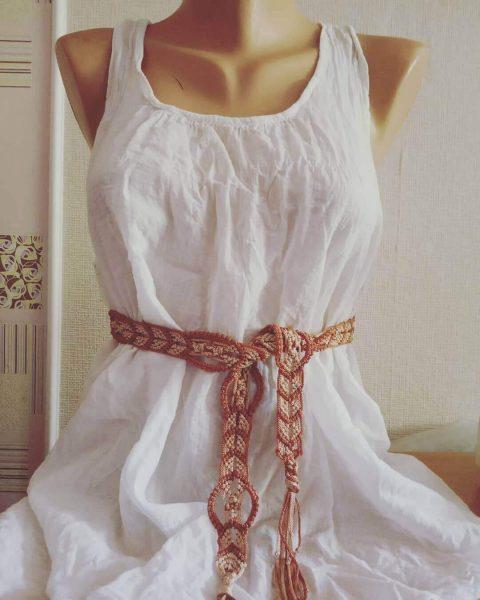 Плетеный пояс своими руками из лент