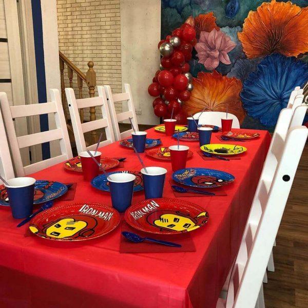Сервировка стола на детский праздник
