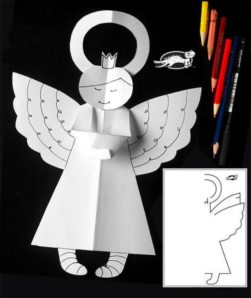 Бумажные ангелы для декора