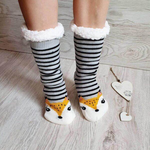 Как сшить меховые носки