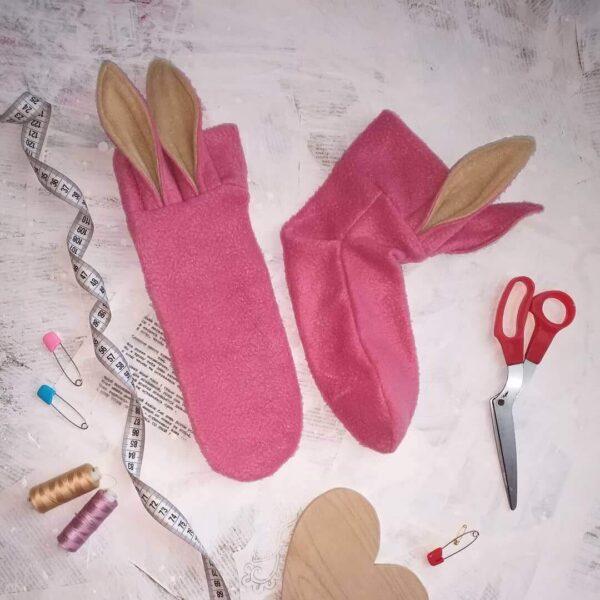 Как сшить носки из фетра